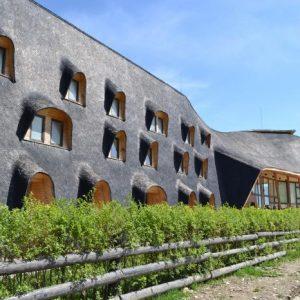 Muzeul Parcului Național Pietra Craiului văzut din exterior.